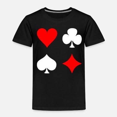 Pik Poker Cross Pik Heart Check - Toddler Premium T-Shirt