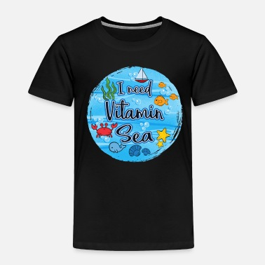 Sailors Daughter Sea Ocean Seafarer Navy Sailor Captain Gift - Toddler Premium T-Shirt