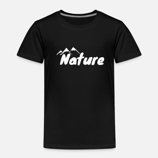 Christmas Present Baby Clothing - Nature Mountain Climbing Saying Sport Alps Rock - Toddler Premium T-Shirt black