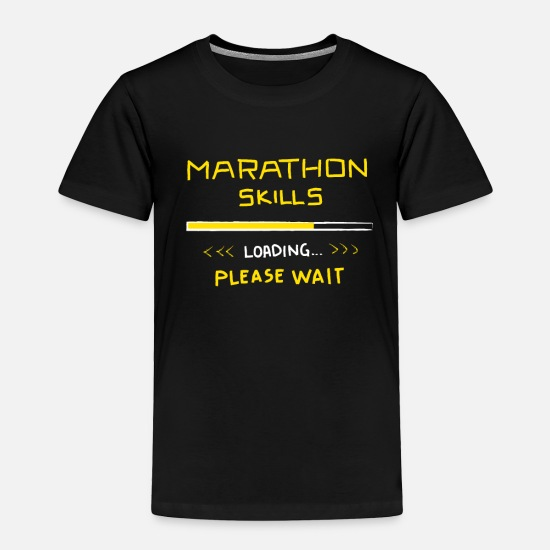 Chicago Baby Clothing - Marathon Skills Loading Runner Gift Funny 26.2 - Toddler Premium T-Shirt black