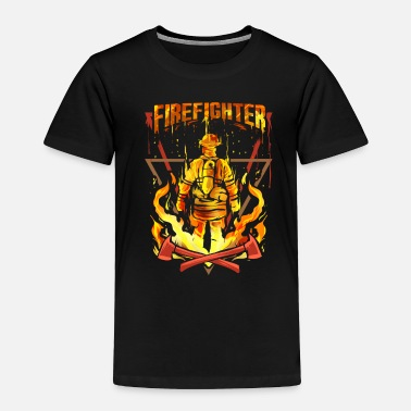 Volunteer Fire Department Firefighter Fire Fireman - Toddler Premium T-Shirt