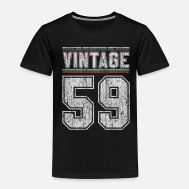 Jersey Number 60th Birthday - Vintage 1959 Funny Gift - Toddler Premium T-Shirt