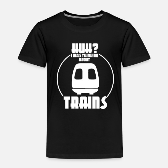 Gift Idea Baby Clothing - Trains - Toddler Premium T-Shirt black