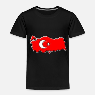 Map Turkey Flag Map - Toddler Premium T-Shirt