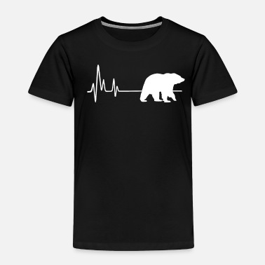 7091d9c3442 My Heart Beats For Grizzly Bears Heartbeat T-Shirt - Toddler Premium T-Shirt