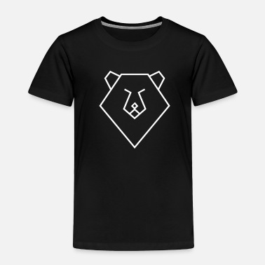 Minimalist Bear Polygon Design Animal Gift - Toddler Premium T-Shirt
