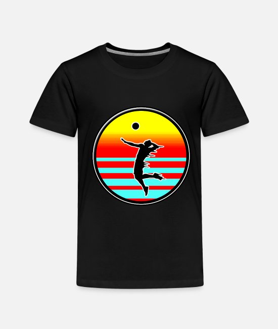 Beach T-Shirts - Volleyball Style volleyball on the beach - Toddler Premium T-Shirt black