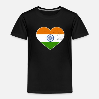 Mantra India Flag Patriotic Pride Heart Gift - Toddler Premium T-Shirt
