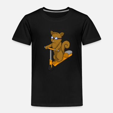 Scooter Escooter Squirrel - Toddler Premium T-Shirt