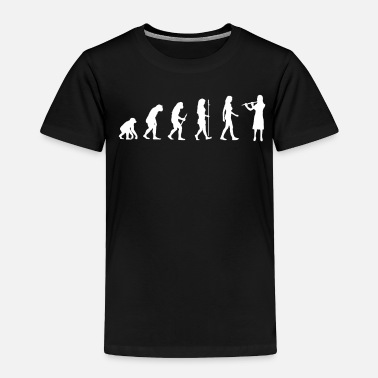 Musical Instrument Flutist Gift Transverse Flute Player Evolution Man - Toddler Premium T-Shirt