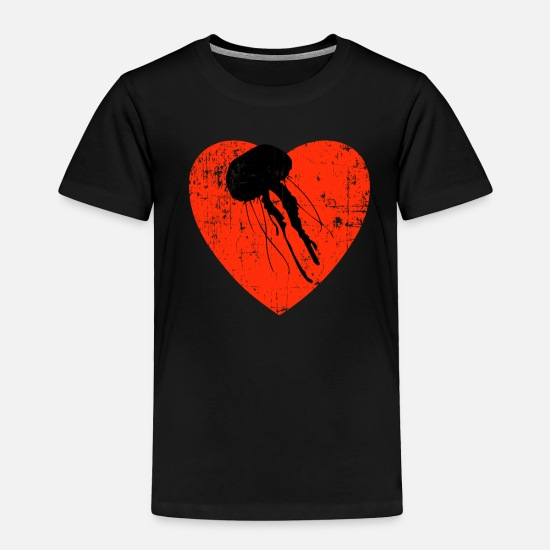 Animal Rights Activists Baby Clothing - Love My Jellyfish Design - Toddler Premium T-Shirt black