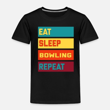 Tenpin Eat Sleep Bowling Repeat Hipster Edition - Toddler Premium T-Shirt