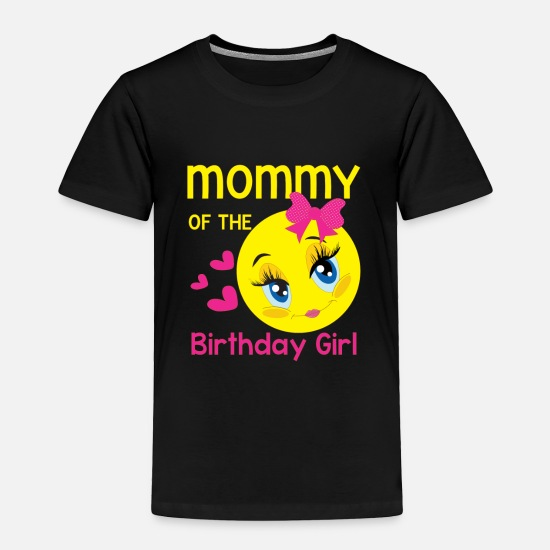 Pink Baby Clothing - Mommy of the birthday girl - smiley - Toddler Premium T-Shirt black