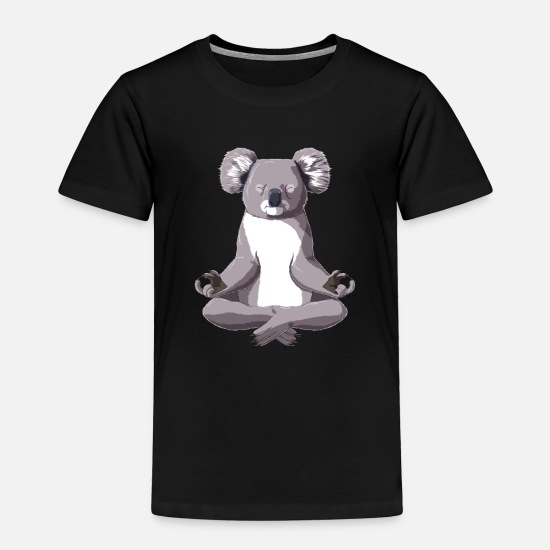 Gift Idea Baby Clothing - Yoga Koala - Toddler Premium T-Shirt black