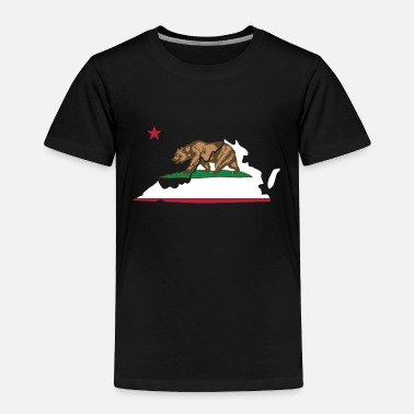 California Virginia California Funny Pride Flag Apparel - Toddler Premium T-Shirt