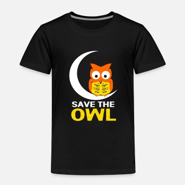 Loud Owl Night Nocturnal Bird Cuckoo Ornithology Forest - Toddler Premium T-Shirt