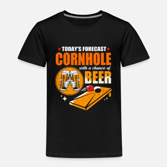 Hole Baby Clothing - Cornhole - Toddler Premium T-Shirt black