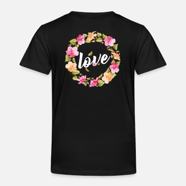 Violet Pretty floral motive - love - Toddler Premium T-Shirt