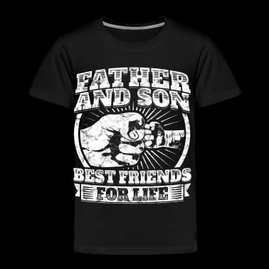 Father And Son Matching Gift Family Dad Fist Bump - Toddler Premium T-Shirt