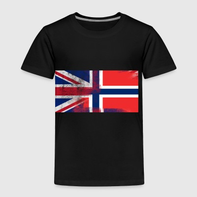 British Norwegian Half Norway Half UK Flag - Toddler Premium T-Shirt