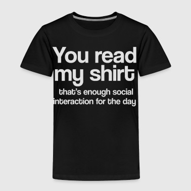 SOCIALIZING - Toddler Premium T-Shirt
