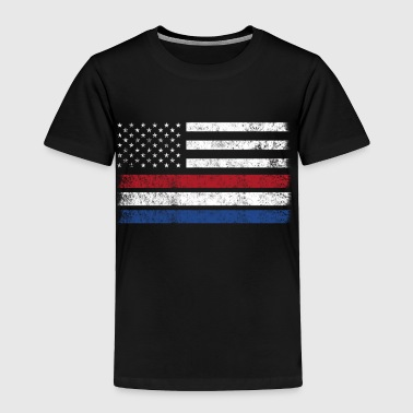 Netherlander American Flag - USA Netherlands Shirt - Toddler Premium T-Shirt