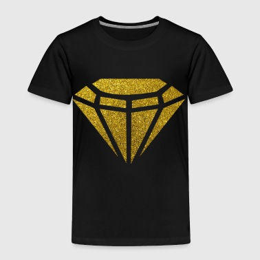 Golden Diamond - Bling Bling Glitter Gold rich kid - Toddler Premium T-Shirt