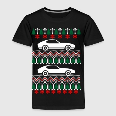 Race Ugly Christmas Sweater Xmas - Toddler Premium T-Shirt
