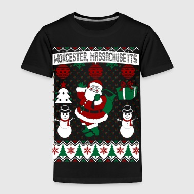 Christmas Ugly Sweater Worcester Massachusetts - Toddler Premium T-Shirt