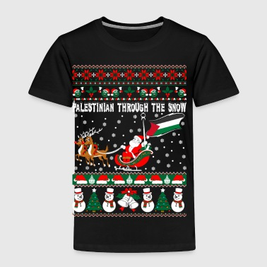 Palestinian Through Snow Ugly Christmas Sweater - Toddler Premium T-Shirt