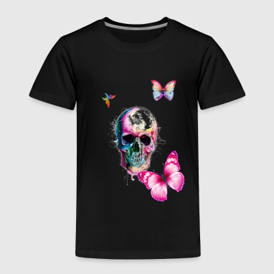 horror and colorful butterfly - Toddler Premium T-Shirt