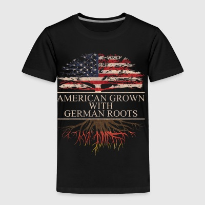 American grown with german roots - Toddler Premium T-Shirt