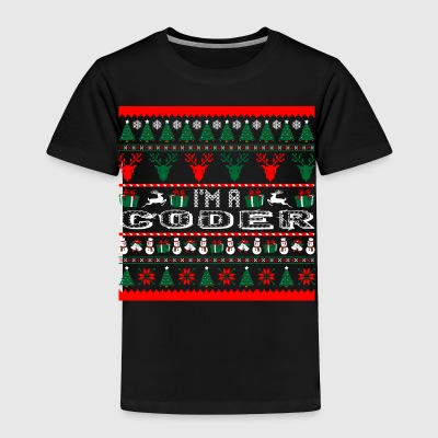 I Am Coder Christmas Ugly Sweater - Toddler Premium T-Shirt