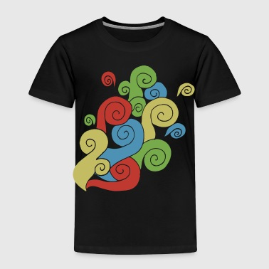Bright Color Swirls - Toddler Premium T-Shirt