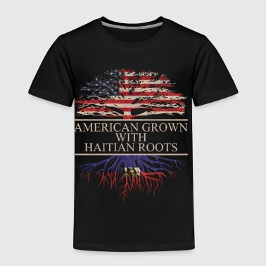 American grown with haitian roots - Toddler Premium T-Shirt