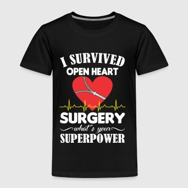 I Survived Open Heart Surgery Superpower - Toddler Premium T-Shirt