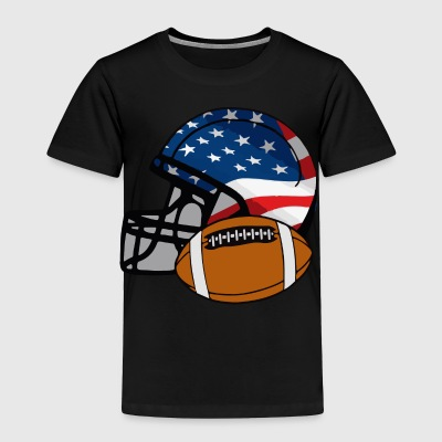 American Football Helm - Toddler Premium T-Shirt