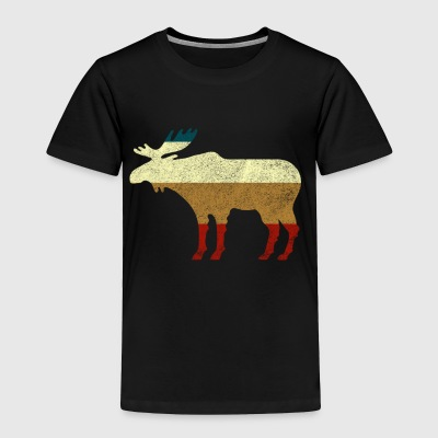 retro moose - Toddler Premium T-Shirt