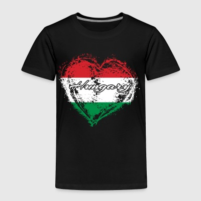 HOME ROOTS COUNTRY GIFT LOVE Hungary - Toddler Premium T-Shirt