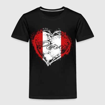 HOME ROOTS COUNTRY GIFT LOVE Peru - Toddler Premium T-Shirt