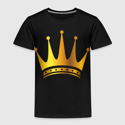 King prince gold VIP crovn lable vector image cool - Toddler Premium T-Shirt