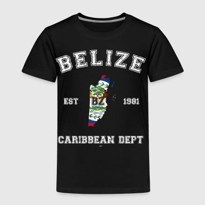 Belize vintage flag-map - Toddler Premium T-Shirt