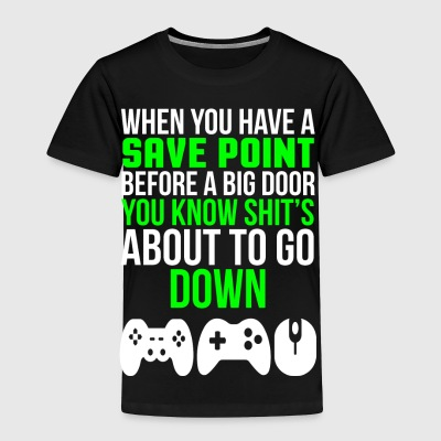 Save Point Funny Video Gamer T-shirt - Toddler Premium T-Shirt
