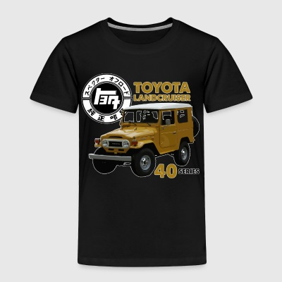 MUSTARD FJ40 WITH RETRO LOGO - Toddler Premium T-Shirt