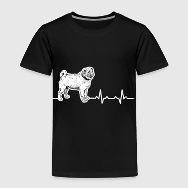 Shop Heartbeats Love Dog Pug Design - Toddler Premium T-Shirt