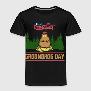 Cute Groundhog Day Shirt - Toddler Premium T-Shirt
