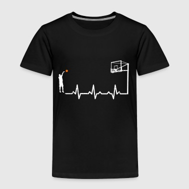 Heartbeats Basketball Love Sports T-shirt - Toddler Premium T-Shirt