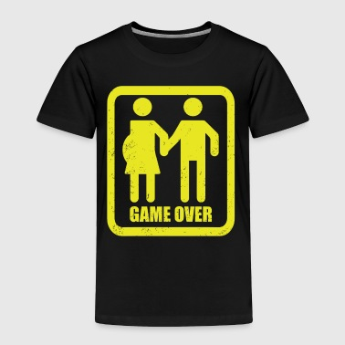 Funny Game Over Pregnant T-shirt - Toddler Premium T-Shirt