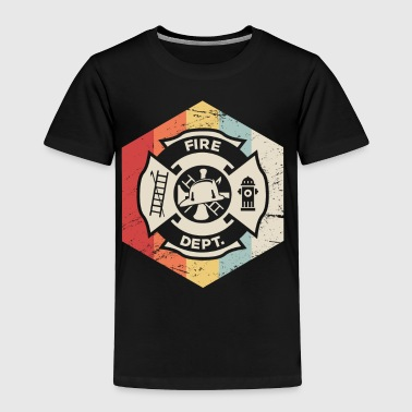 Retro 70s Fire Department Icon - Toddler Premium T-Shirt