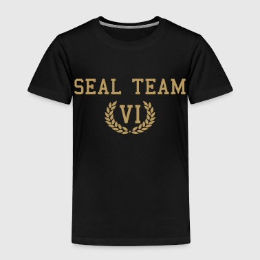 Seal Team Six- Men's Gold on Black - Toddler Premium T-Shirt
